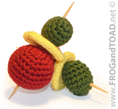 Olive Tomate Fromage Tomato Cheese Amigurumi Food - FROGandTOAD Créations