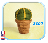 CACTUS Coussin de belle mere / Mother in law's Cushion Amigurumi FROGandTOAD LINK