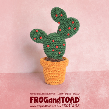 CACTUS Amigurumi Crochet - Figue de Barbarie / Prickly Pear - FROGandTOAD Créations