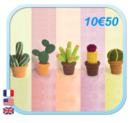 CACTUS Trio Collection Amigurumi FROGandTOAD LINK