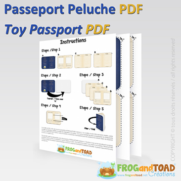 Toy DIY passport - FROGandTOAD Créations