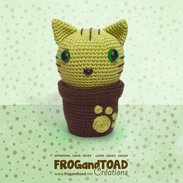 KITTY CACTUS Amigurumi Crochet - Chat Cat - FROGandTOAD Créations