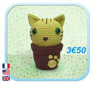 KITTY CACTUS CHAT CAT Amigurumi FROGandTOAD LINK