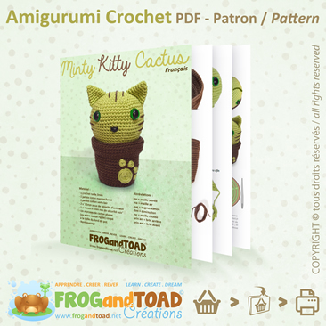 KITTY CACTUS Amigurumi Crochet PDF - Chat Cat - FROGandTOAD Créations