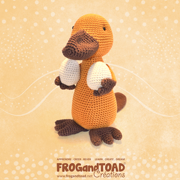 PAYO Platypus Ornithorynque - Amigurumi Crochet PDF - Patron / Pattern - FROG and TOAD Créations