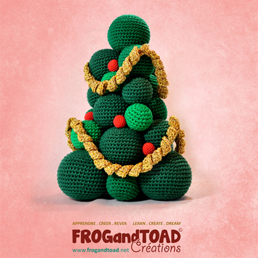 Sapin de Noël Christmas Tree Amigurumi Crochet Patron Pattern FROG and TOAD Créations