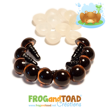 10mm Yeux de Sécurité Marron / Brown Safety Eyes FROGandTOAD Créations
