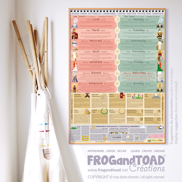 Jours Mois Mythes et Legendes / Days Months Myths and Legends - FROGandTOAD Créations