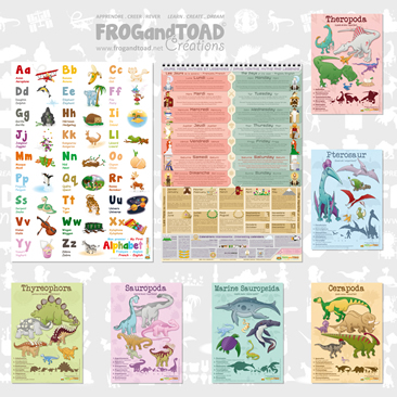 Premier Apprentissage / First Learning - Poster Bundle Collection - FROGandTOAD Créations